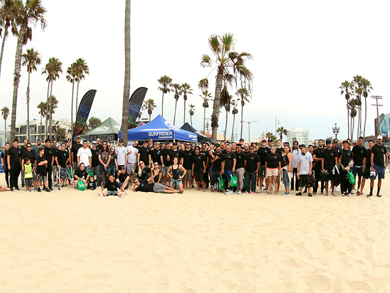 THC Design joins Surfrider Foundation for a Beach Cleanup at Venice