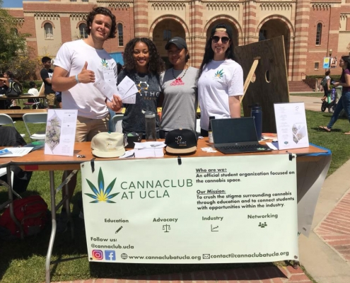 THC Design at the Student Fair with the Cannaclub at UCLA